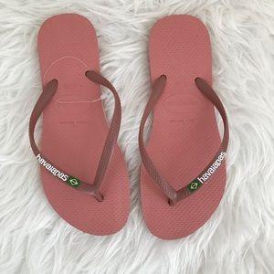 Havaianas Slim Brazil Flip-Flop Rubber US 6